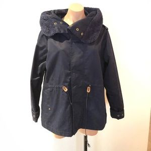 NWT DC Navy Adirondack Jacket with Fur Collar